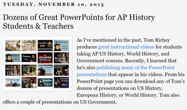 History PowerPoints for Teachers - TomRichey net